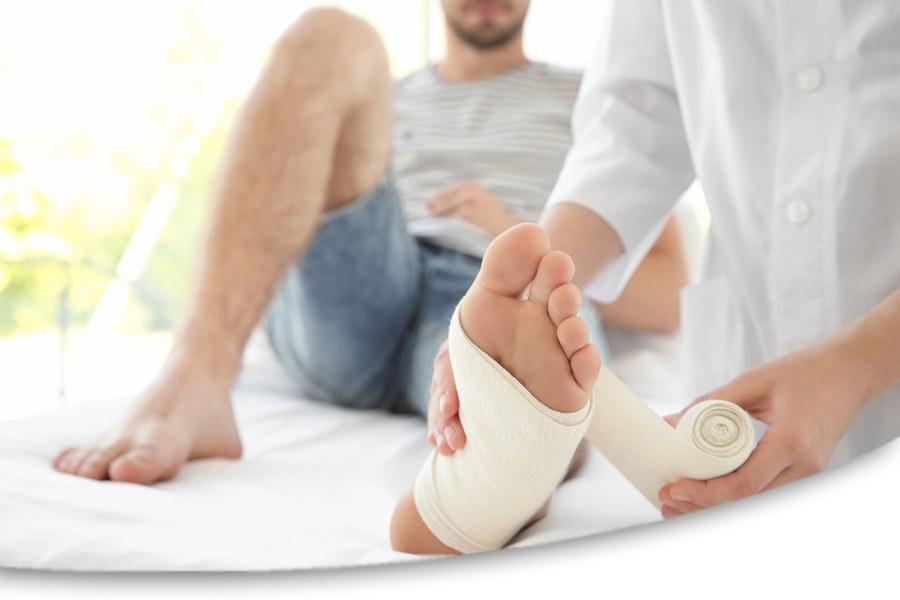 Diabetisches Fußsyndrom - Wundbehandlung diabetischer Fuss   DRACO